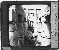 Sala hipóstila una columnas en Karnak Egipto Egipto Fotografía foto c1900