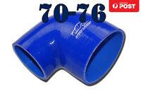 "4 Ply Silicone Turbo Pipe BOV 90 Degree Intake Elbow Hose 70mm - 76mm 2.75""- 3"""
