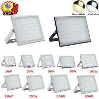 LED Floodlight Outside Light 10-500W Security Flood Light IP65 Outdoor Garden JK