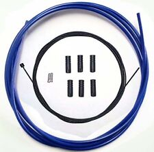Teflon Coated inner Gear Cable Lined Blue Outer Sealed Ferrules MTB Bike 2M