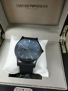 Armani ARS3015 Men's Swiss Made Black Automatic Watch  - NEW IN BOX & FREE SHIP