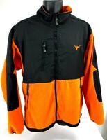 Texas Longhorns Officially Licensed NCAA Football Orange Fleece Jacket XL EUC