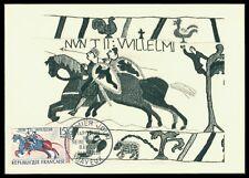 FRANCE MK 1958 TAPISSERIE DE BAYEUX WAND-TEPPICH PFERD MAXIMUM CARD MC CM am95