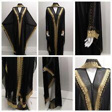 Mujer Frente Abierto Abaya.dress .saudi Abaya Japonés Neda / Linen.new Novedad
