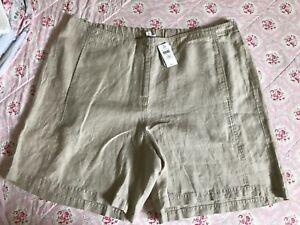 NWT $69 J.Jill FLAX 100% Love Linen Bermuda Walking Shorts 24  Woman nice