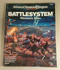 AD&D battlesystem Miniatures regole Advanced Dungeons & Dragons TSR 9266