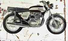 Benelli 650S Tornado 1973 Aged Vintage SIGN A3 LARGE Retro