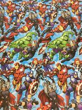 Marvel Avengers Super Hero  Wrapping Paper Thor Hulk  GiftWrap 1M x 70cm