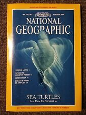 National Geographic Magazine February 1994 With Map of The World, Sea Turtles
