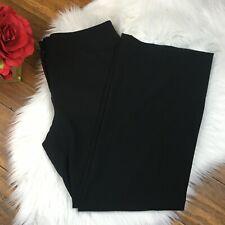 Chico's Women's Black Wide Leg Draped Career Dress Pants Size 0 Small Short