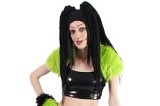 Lime Green Furry Fuzzy Fluffy Cyber Goth Shrug Halloween Lip Service Killstar XS