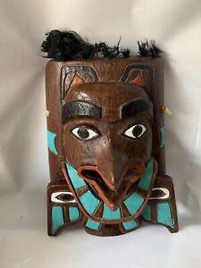 Northwest Coast First Nations BC Canada Haida Shamans Mask Hand Painted Composit