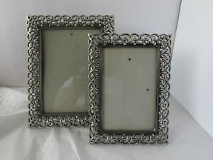 Sixtrees London New York Pewter Picture Frame Lot Set Celtic Design Picture