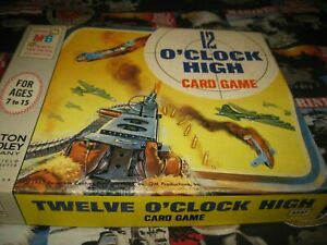 VINTAGE WWII Airplanes12 O'CLOCK HIGH CARD GAME MILTON BRADLEY 1965