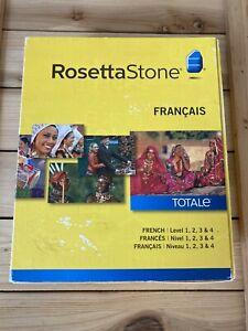 Rosetta Stone V4 TOTALe: Francais (French) Level 1-4 Set for PC, Mac. *read*