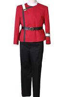 Star Trek Wrath of Khan starfleet Kirk Spock Uniform Set Halloween Costume