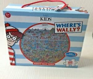 Marks & Spencer Where's Wally Jigsaw Puzzle 103 Pieces Used Complete W323