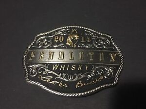 Pendleton Whisky 2014  Cowboy Belt Buckle- Montana Silversmiths NEW