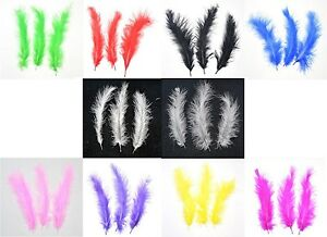 100 Marabou Feathers - 10cm to 15cm Long - 10 Colours to Choose From