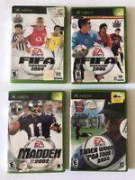 ORIGINAL XBOX Video Game Lot 4 games. H