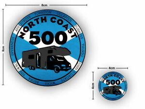 2x Nort Coast 500 Camper Scotland NC500 Vinyl Sticker Car Van Camper Decal