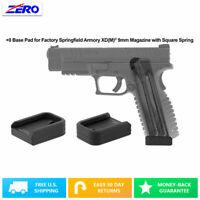 Black Springfield Armory XD(M) 9mm Magazine +0 Base Pad Aluminum Extended USA
