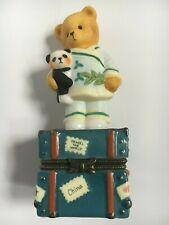 Very Rare Cherished Teddies 441066 Chinese China Boy Chest Suitcase Panda Nib 3