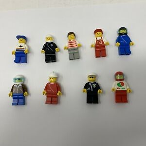 Lot 9 Lego Classic Town Minifigures Complete Minifigs 80s Police Pilot Driver