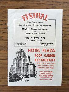 Vintage Brochure Scandinavian Airlines System SAS Madrid Spain Map Hotel Plaza