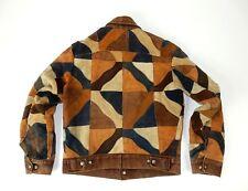 AMAZING Vintage Leather GRAPHIC Patchwork Levis Style Jacket