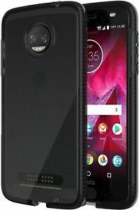 Tech21 Evo Check Series Gel Case Cover for Motorola Moto Z2 Force - Smoke/Black