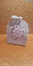Wedding , Birthday , Favour Boxes pack of 10 white card crafting embodiments box