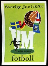 Sverige Juni 1958 #13 World Cup Story Panini Sticker (C350)