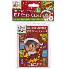 52pc Jumbo Elf Snap Play Cards Christmas Fun Activity Family Children Kids