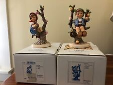 "Hummel Appletree Boy and Appletree Girl, 6"" Tall Hum 142/I"