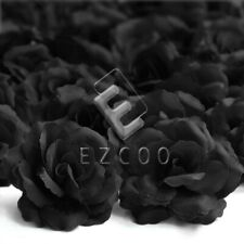20pcs Artificial Rose Flower Heads Bulk Big Rose Wedding Party Decoration Black