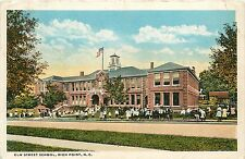 North Carolina, NC, High Point, Elm Street School 1922 Postcard