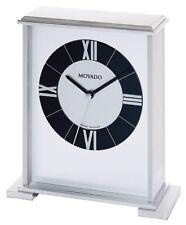 Movado silver impressive mantle clock mgo 172m rare collectible  new usa stock