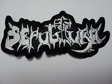 SEPULTURA OLD LOGO WHITE     EMBROIDERED PATCH