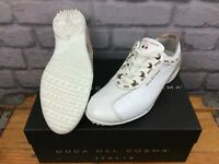 DUCA DEL COSMA LADIES PALM SPRINGS WHITE TAUPE SPIKELESS GOLF SHOES RRP £170