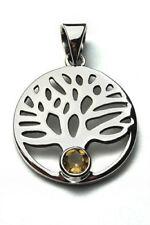 Collares y colgantes de joyería colgantes citrino plata