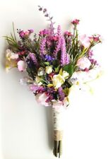 Rustic Boho Spring Flower Bouquet for Wedding - Spring Wildflowers with Lavender