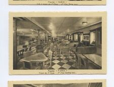 SS Paris Postcard - 2nd Class Smoking Room - CGT French Line
