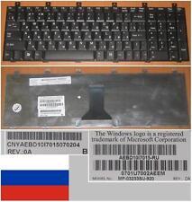 Clavier Qwerty Russe Toshiba M60 P100 MP-03233SU-920 AEBD10I7015-RU Noir