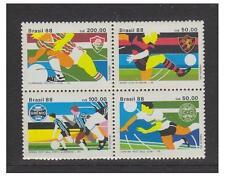 Brazil - 1988 Football set as a block of 4 - MNH - SG 2322/5