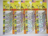 MACK/'S MACKS SMILE BLADES LURE PARTS 4 PACKS TROLLING BLADES 1.5 65324 CHART SPK