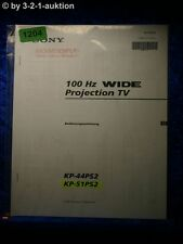 Sony Bedienungsanleitung KP 44PS2 /51PS2 100Hz Projection TV (#1204)