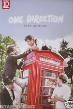 """ONE DIRECTION """"TAKE ME HOME"""" HONG KONG PROMO POSTER - Group & UK Telephone Booth"""