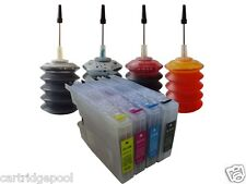 4 Refillable ink cartridge for Brother LC75 MFC-J5910DW J625DW J6510DW + 4X30ML