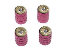 20 Gauge Bullet Shell (Image Only) Ammo Tire Rim Wheel Valve Stem Caps Pink